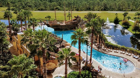 Kids will love the pirate-themed plunge pool at the Lake Buena Vista Resort Village and Spa in Orlando