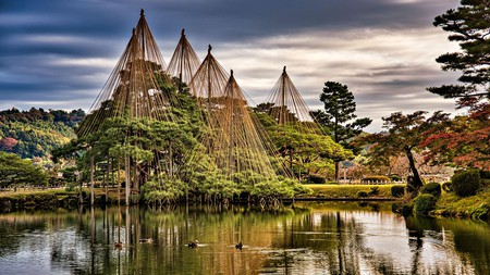 Stay close to Kanazawa's Kenroku-en Garden, one of the most beautiful in all of Japan