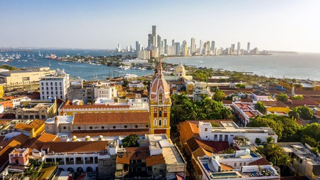 The old city center of Cartagena is quite spectacular, with the modern equivalent on the waterfront beyond