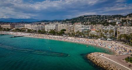 Cannes is famous for its beaches along the Côte d'Azur