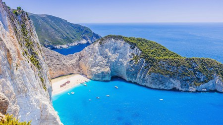 Navagio Beach is a secluded piece of paradise on the coast of Zakynthos