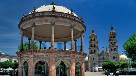 Make sure to visit the bandstand and cathedral on Plaza de Armas in Durango