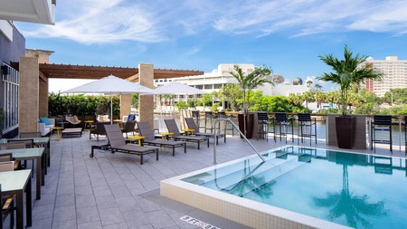 Aloft Tampa Midtown is Marriott's fun sister – with fitness center, rooftop pool, and Latin dining – all close to the Busch Gardens theme park
