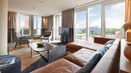 Check in to a room with a city view on your trip to Bremen