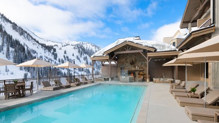 Have a swim at Snowpine Lodge in between skiing shifts