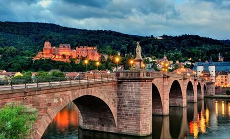The Alte Brücke is the oldest bridge in Heidelberg, Germany