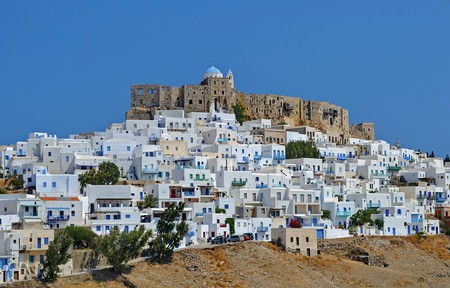 Chora is the main town on the island Astypalea, Greece