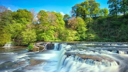 Aysgarth Falls is a tourist hub in the Yorkshire Dales