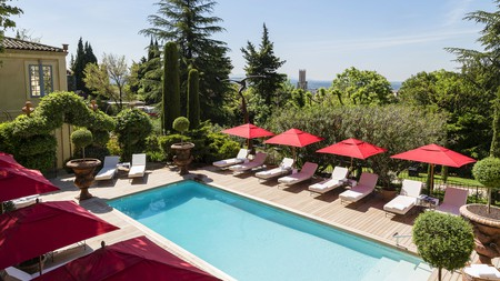 Escape the midday heat in Aix-en-Provence and go for a dip in your hotel pool