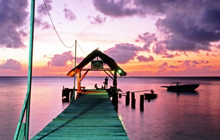 Pigeon Point is a stunning spot to watch the sunset on Tobago