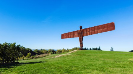 The Angel of the North is a sculpture by Antony Gormley in North East England