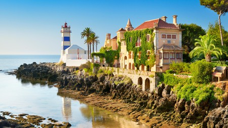 The Santa Marta Lighthouse sits just south of the town centre in the marina of Cascais