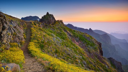 Rise above the clouds on the trail from Pico do Arieiro to Pico Ruivo on Madeira, Portugal