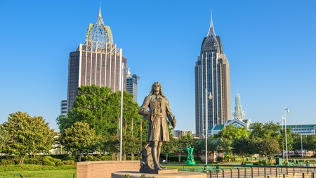 Cooper Riverside Park in Mobile, Alabama, is perfect for a stroll