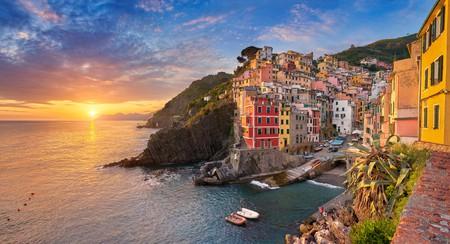 The sunsets in Riomaggiore, Cinque Terre, are unbeatable