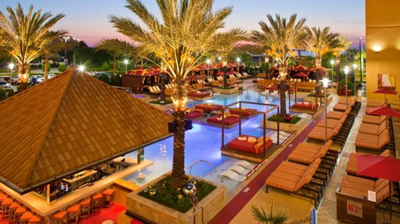 Relax poolside at the Golden Nugget Biloxi, Mississippi