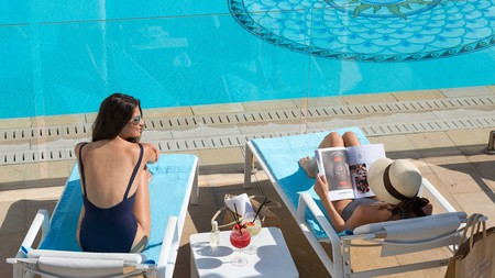 When you're done with the pool at Hotel Barrière Le Majestic, head to the spa for top treatments such as anti-aging cryotherapy