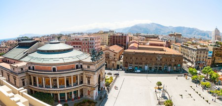 Hotel Politeama offers views of the adjacent Piazza Ruggiero Settimo and across greater Palermo