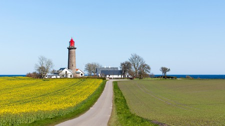 Fornaes Lighthouse near Grenaa on the Danish Baltic coast