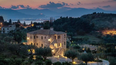 Enjoy a spectacular sunset over the Greek landscape from your boutique accommodation