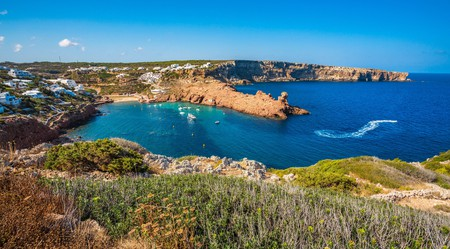 Cala Morell Bay in the Ciutadella de Menorca municipality of Minorca