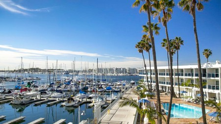 Enjoy a view of the boats with a stay at the Marina del Rey Hotel, a short drive from LAX