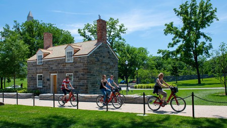 Built in 1837, the Lock-Keeper's House is the oldest building on the National Mall in the Constitution Gardens, which can be explored by bike