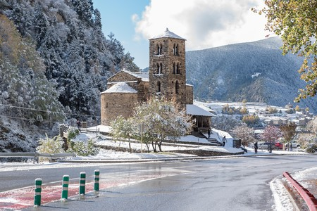 Seeing Iglesia Sant Joan de Caselles covered in snow is a must when in Canillo, Andorra