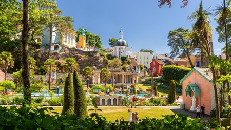 With its stunning Italian-style buildings, Portmeirion is one of the best places to visit in North Wales
