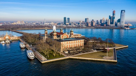 Ellis Island, where most immigrants started their life in the US, is easily reachable by ferry