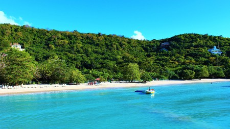 The town of Morne Rouge, fringed by white sands and turquoise waters, is home to some first-rate restaurants