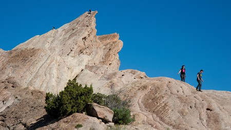 The Vasquez Rocks are a popular spot for hikers and climbers in Southern California