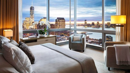 Enjoy sweeping views of Manhattan and the Hudson River from the luxurious rooms at the Dominick