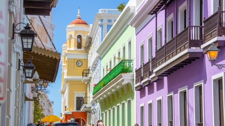 The architecture in Old San Juan, Puerto Rico, is colorful