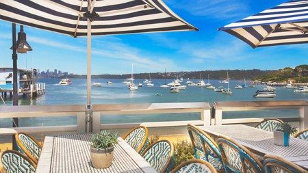 Watsons Bay Boutique Hotel boasts stunning coastal views from the terrace
