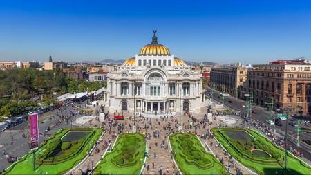 The Palacio de Bellas Artes in Alameda Central Park is one of the top attractions in Mexico City