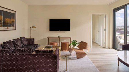Relax in modern comfort near the Two Rivers Mansion at the 21c Museum Hotel in Nashville