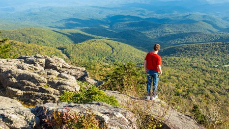 Take a trip to Grandfather Mountain State Park to hike up endless mountains and bear witness to its iconic peak