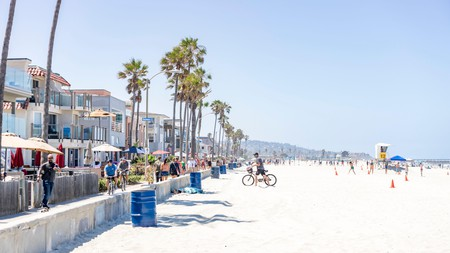 Enjoy coastal vibes at the Mission Beach in San Diego, California