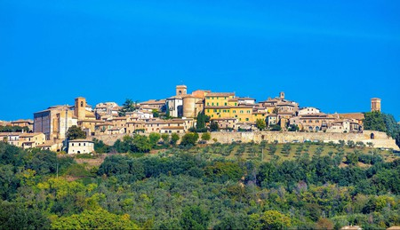 Montefalco is a walled Medieval town in Italy