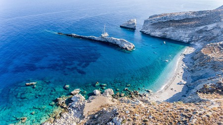 Katergo Beach is one of the beautiful beaches awaiting you on Folegandros