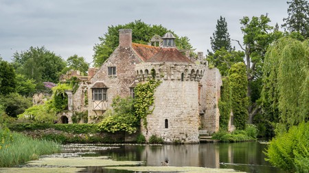 Stay close to the Scotney Castle in Kent to explore its impressive architecture and surrounding woodlands