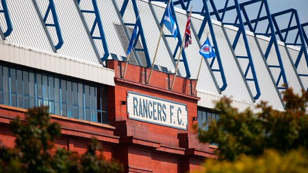 Watch a football match at the Ibrox Stadium, Glasgow