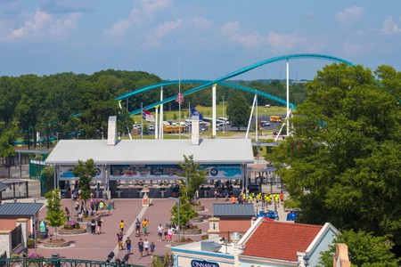 Get your adrenaline kick on the steel roller coaster Fury 325 at Carowinds