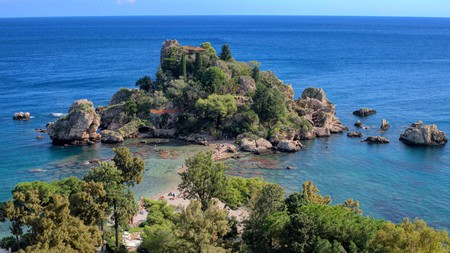 Enjoy a stroll around rocky, tree-clustered Isola Bella island