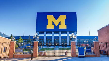 The eye-catching Maize and Blue 'M' adorning Michigan Stadium sets the tone for the excitement within
