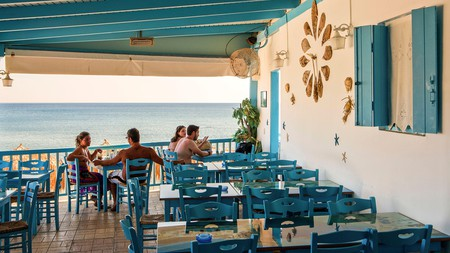 There are plenty of al fresco options when it comes to dining in Milos