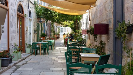 Syros island may be one of the lesser-visited spots in the Cyclades, but it boasts a lively bar scene
