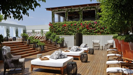 Skybar at the Mondrian Hotel in LA invites you to relax