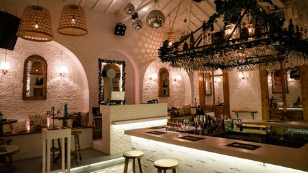 Apotheke is an atmospheric place for music and metaxa